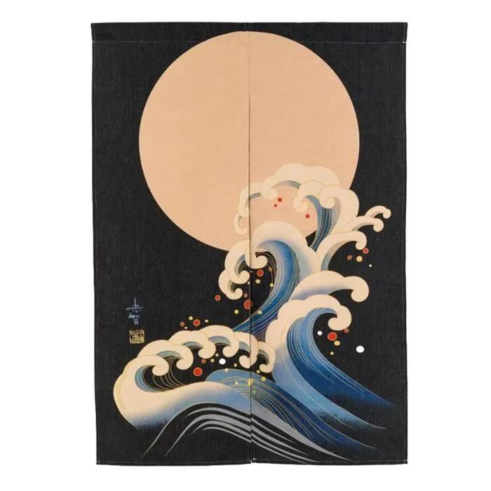 rideau suspendu a la porte du japonais noren decor