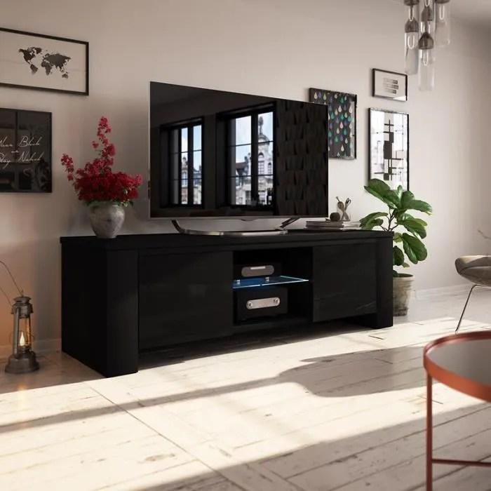 meuble tv meuble salon jackson 130 cm noir