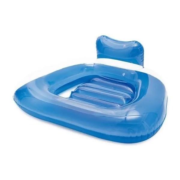 matelas gonflable en forme de siege avec dossier 104 x 80 x 34 cm piscine et mer