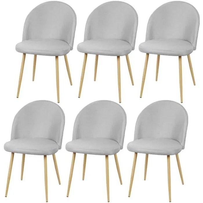chaise scandinave lot de 6 tissus