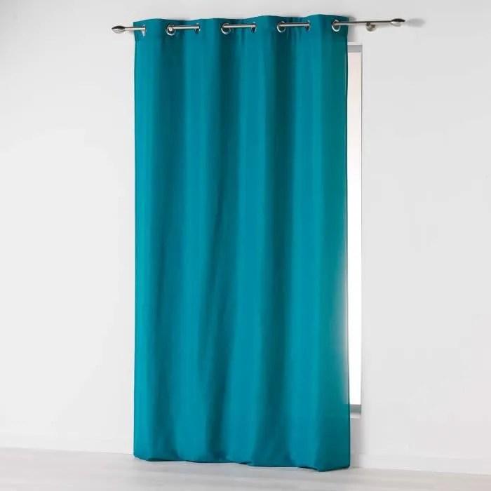 rideau bleu turquoise
