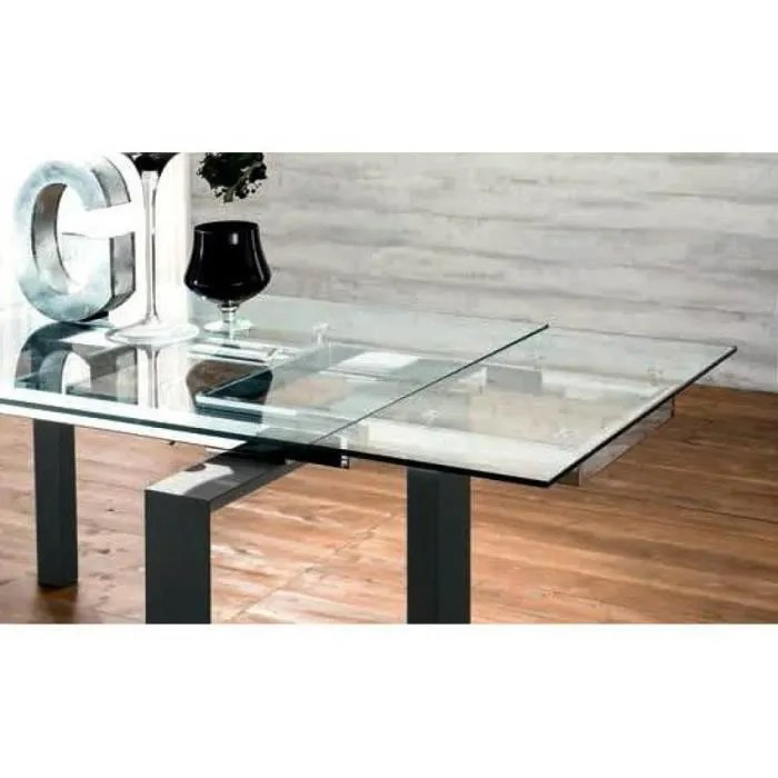 epsylon table repas extensible en verre