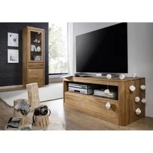meuble tv chene huile