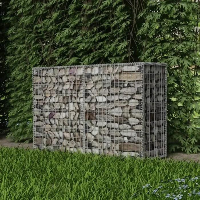 gabion a pierres bordure de jardin panier de gabio