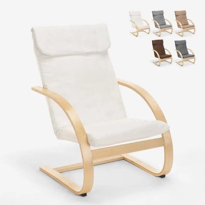 fauteuil de salon et de bureau ergonomique en bois