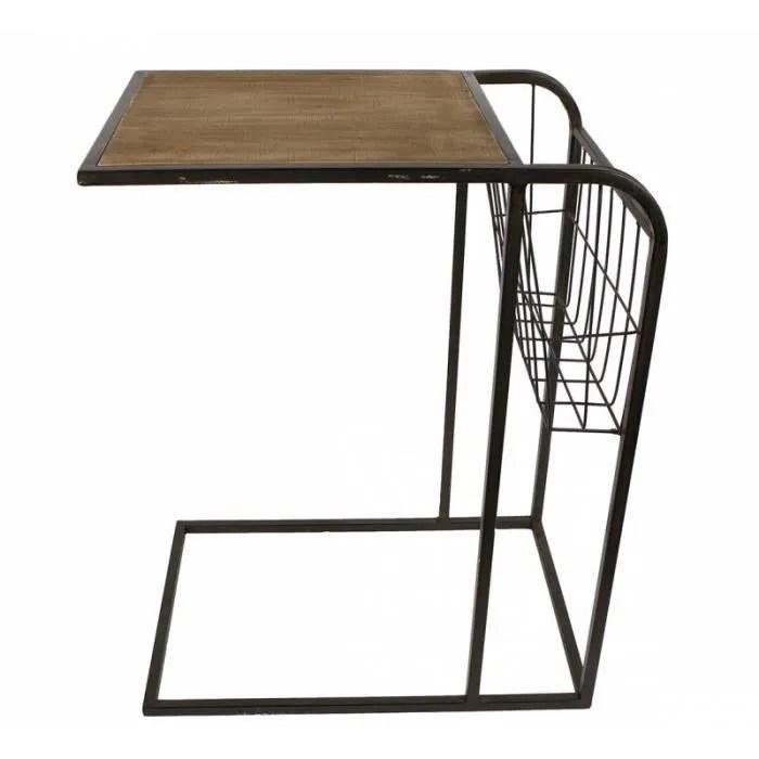 gueridon bout de canape porte revues table d appoint desserte 33x48x60cm root nos produits mobilier meubles d appoint et