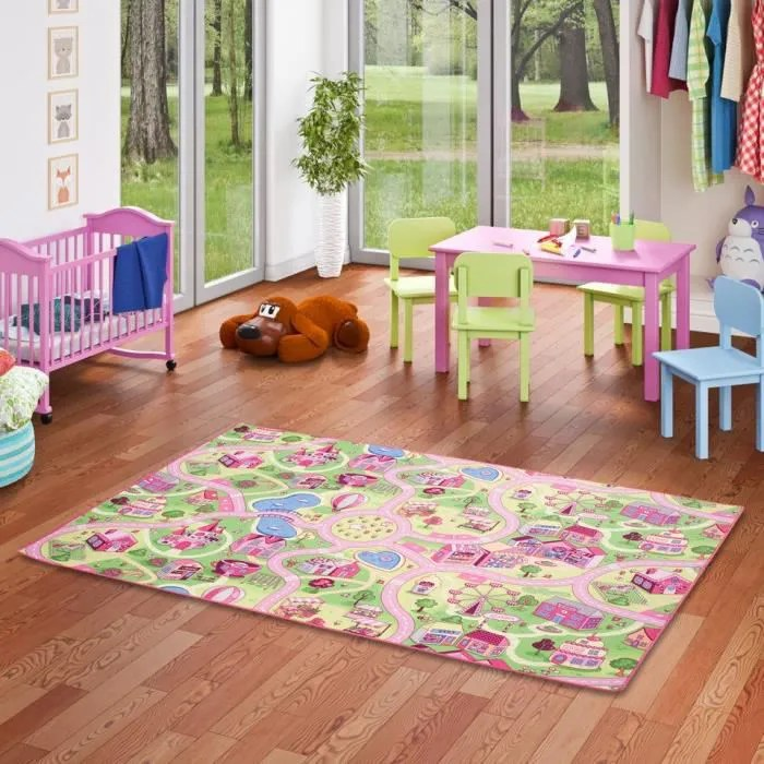 tapis de jeu pour enfant girls little village moti
