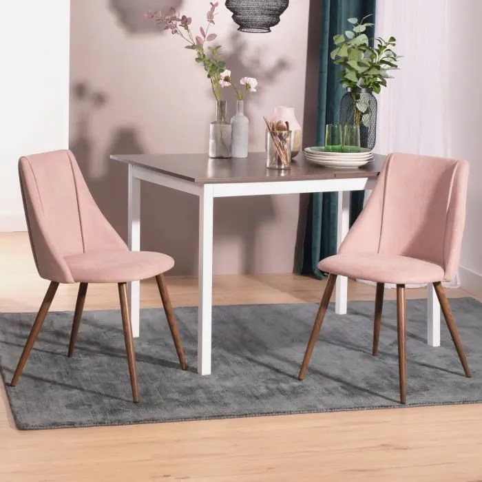 lot de 2 chaises scandinave chaise de