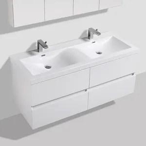 Meuble Double Vasque 110 Cm Salle De Bain Achat Vente Pas Cher