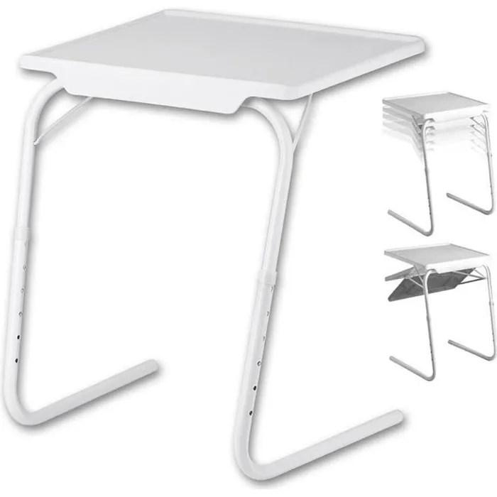 table blanc d appoint pliable multiposition malade enfant