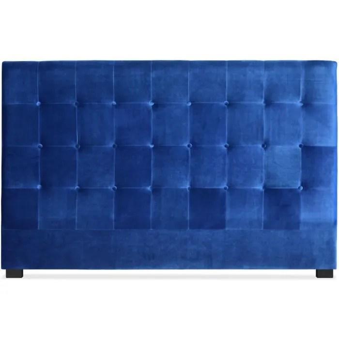 tete de lit luxor 180cm velours bleu
