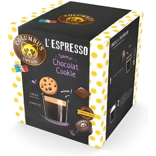 Capsule Dolce Gusto Compatible Columbus L Espresso Chocolat Cookie X16 Tu Achat Vente Cafe Capsule Capsule Dolce Gusto Cdiscount