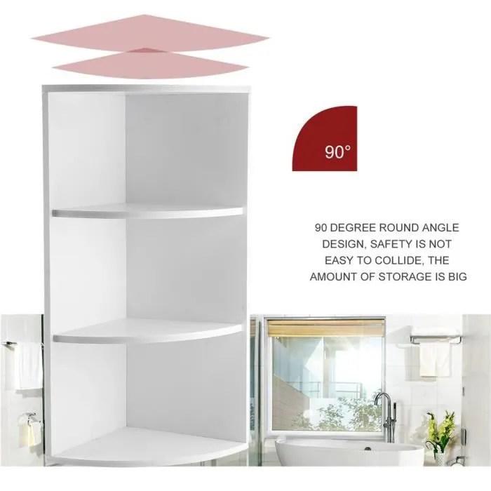 bain support d angle de stockage blanc