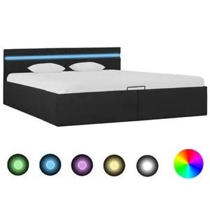 lit led avec coffre de rangement ava