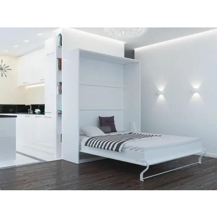 lit escamotable smartbett 160x200 vertical blanc c