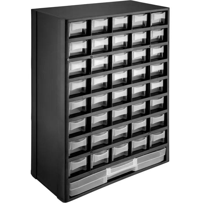tectake casier a vis 41 tiroirs etagere caisse de rangement bricolage en plastique 30 cm x 13 5 cm x 45 cm