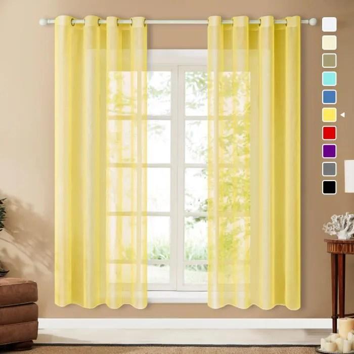rideau voilage noel 2 panneaux jaune moutarde 14