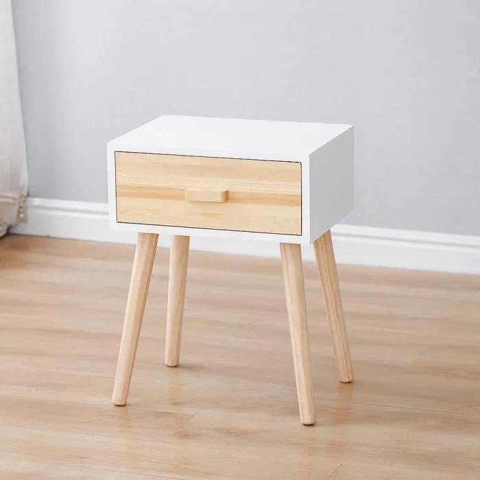 table de chevet design scandinave table d appoint table de nuit pieds en bois massif 40 30 50cm