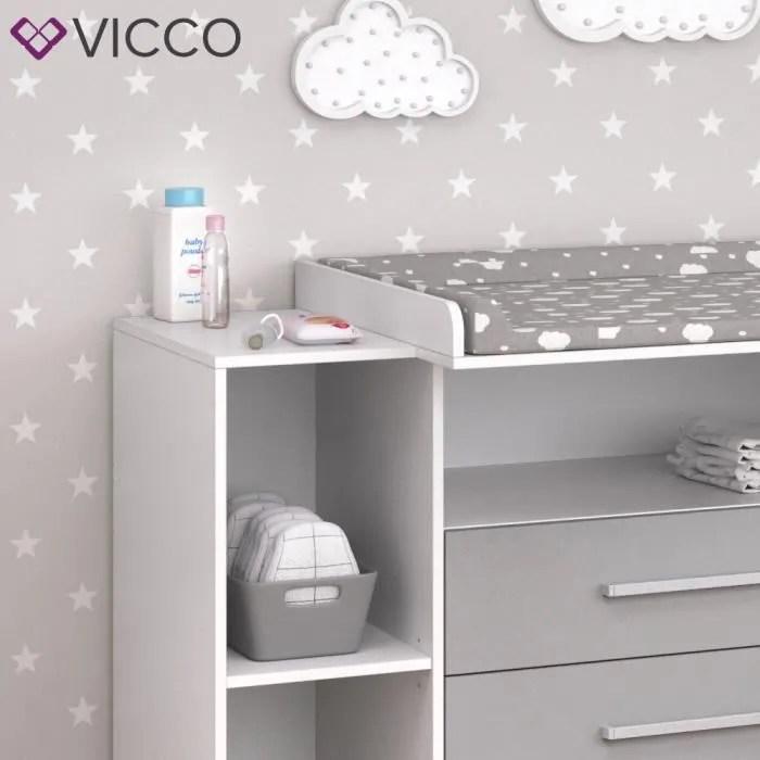 vicco commode a langer oskar blanc gris etagere a langer meuble bebe commode table a langer