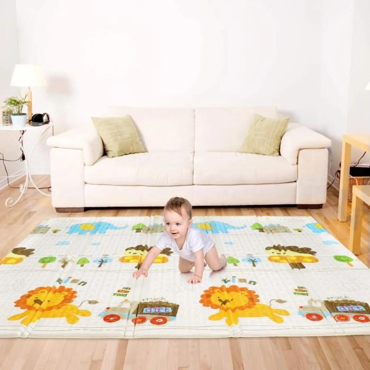 grand tapis pour bebe 1 cm epaisseur pliable