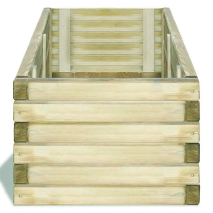 jardiniere rectangulaire en bois 120 x 40 x 30 cm