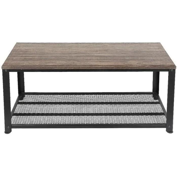 jeobest table basse style industriel avec eta