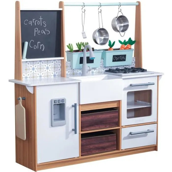 kidkraft 53444 cuisine enfant farmhouse en bois avec ez kraft assembly