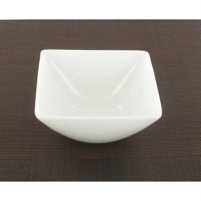 bol carre blanc fine bone china a