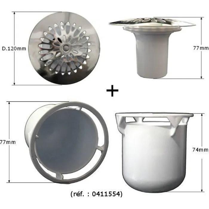 grille avec garde d eau tasse pour bonde de douc