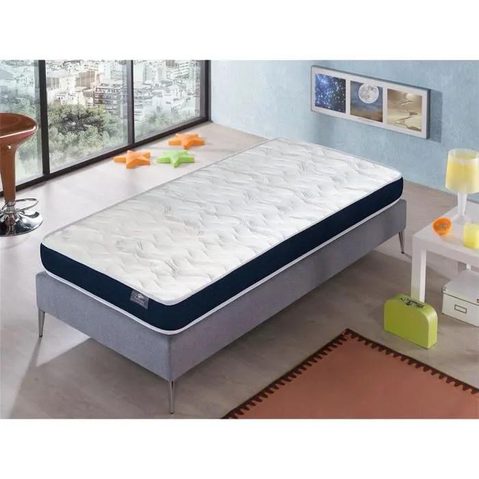 matelas 120x200 ergo confort epaisseur 14 cm rembourrage super soft juvenil ideal pour les lits gigognes