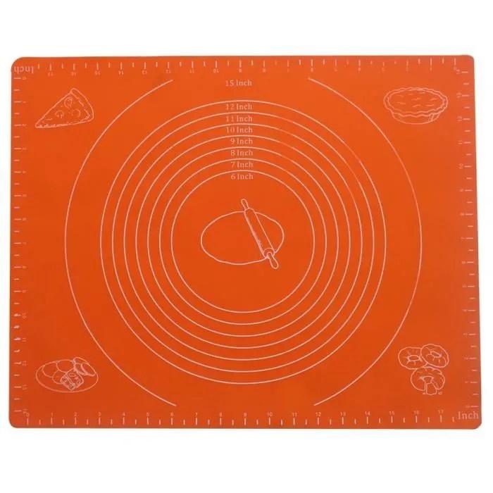 tapis en silicone avec unites de mesure tapis a