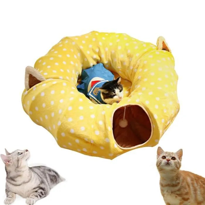 lit tunnel pliable chat sac de couchage tunnel d
