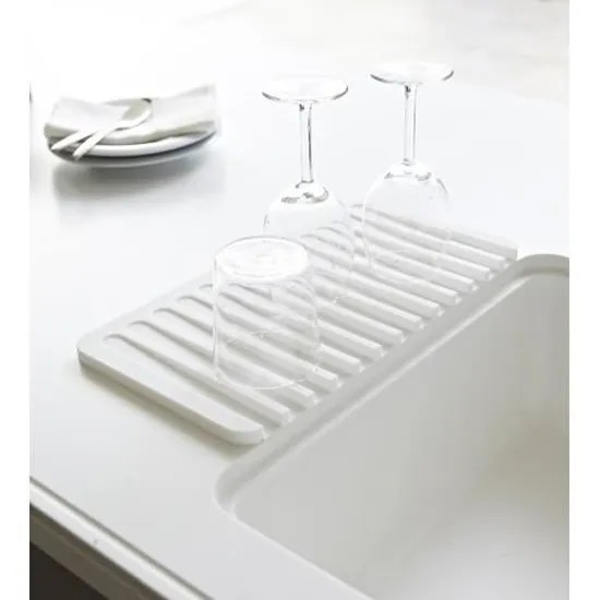 egouttoir vaisselle blanc silicone yamazaki