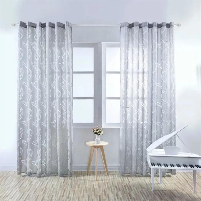 rideaux 45 x 90 rideau voilage floral