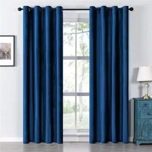 rideaux bleu marine chambre