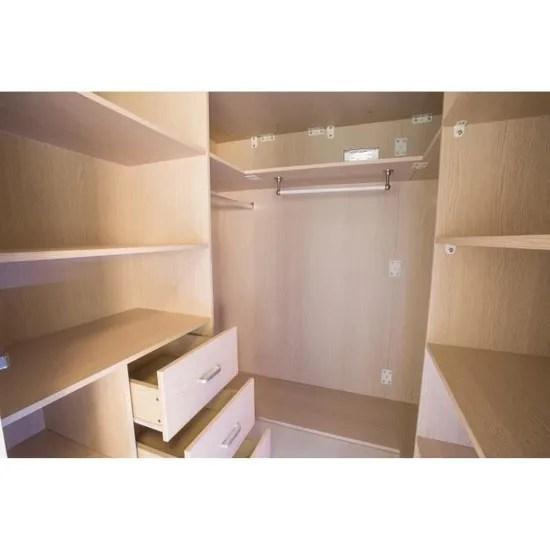 petra lit combine avec couchage 2 et 1 penderie blanc bois nature blanc bois nature