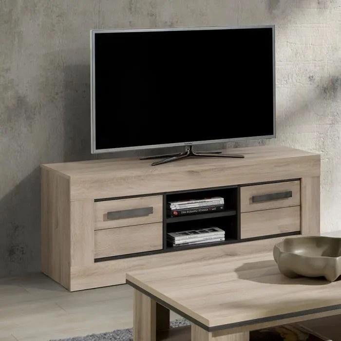 banc tv 145 cm couleur chene clair winston l 145 x