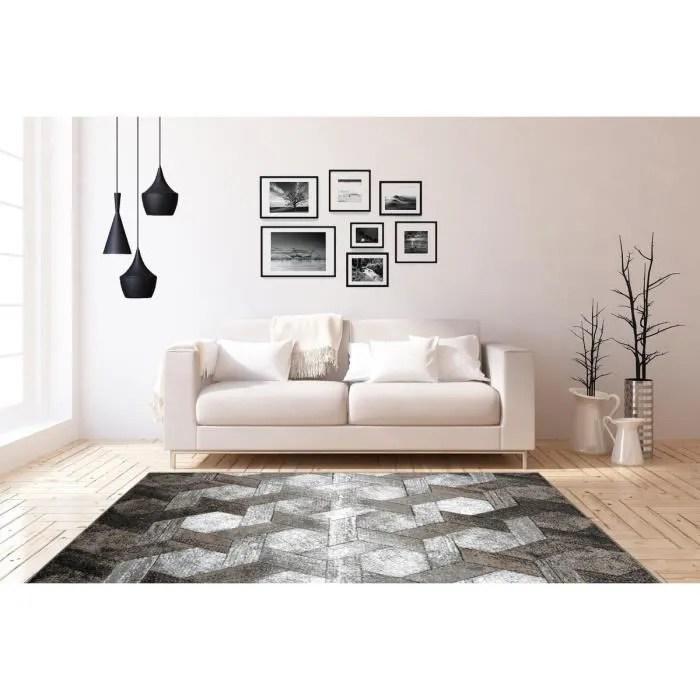 tapis 3d tapis moderne tapis design salon noir bei