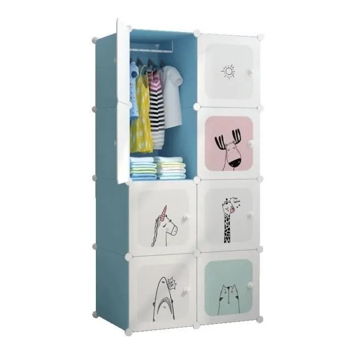 armoire chambre meuble rangement enfant 8 porte 1