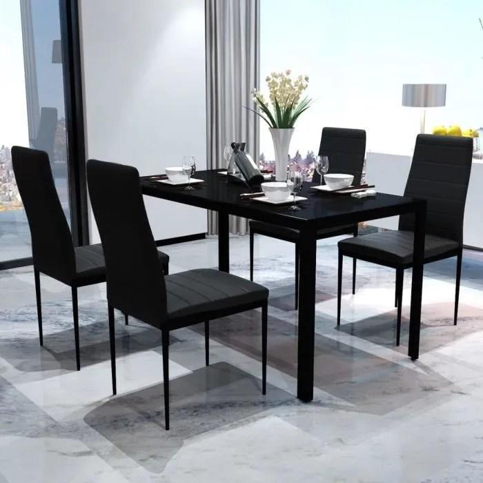 ensemble table de salle a manger avec 4 chaises