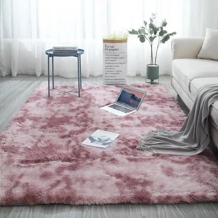 tapis de salon chambre shaggy yoga moquette an