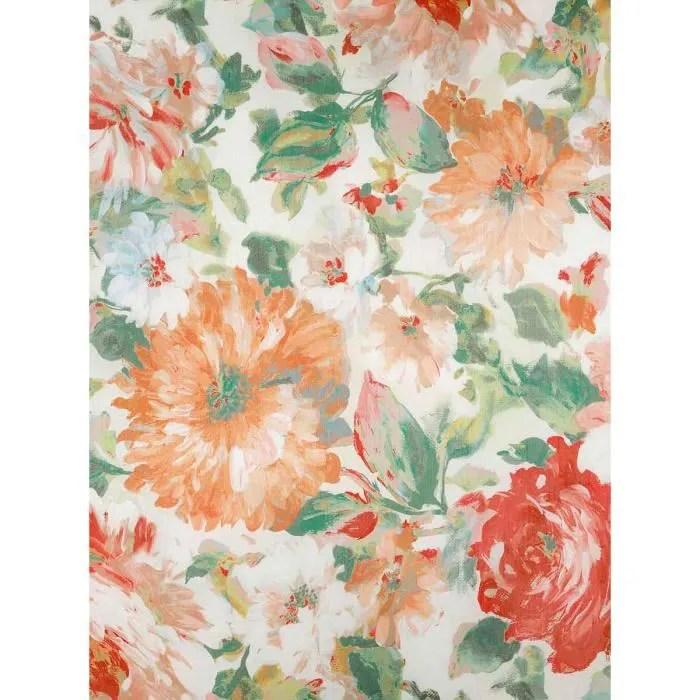 rideau esprit romantique et fleuri jaune 150 x 260