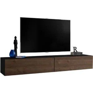 meuble tv suspendu noir duccio 4 l 330