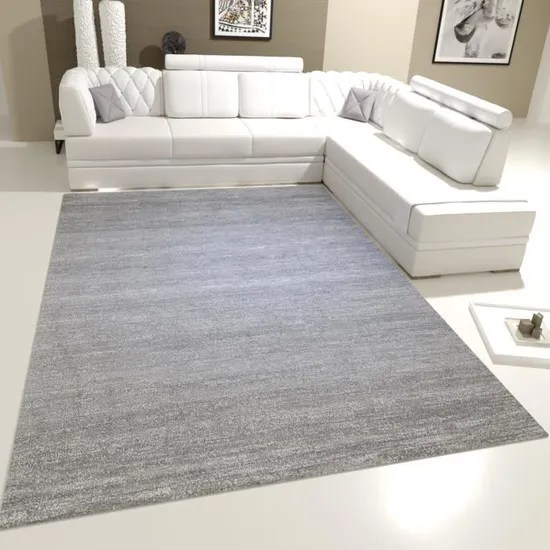 tapis moderne a poils ras chine gris et