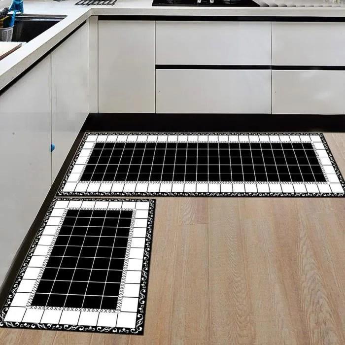 style 2 tapis de sol de cuisine moderne confortab