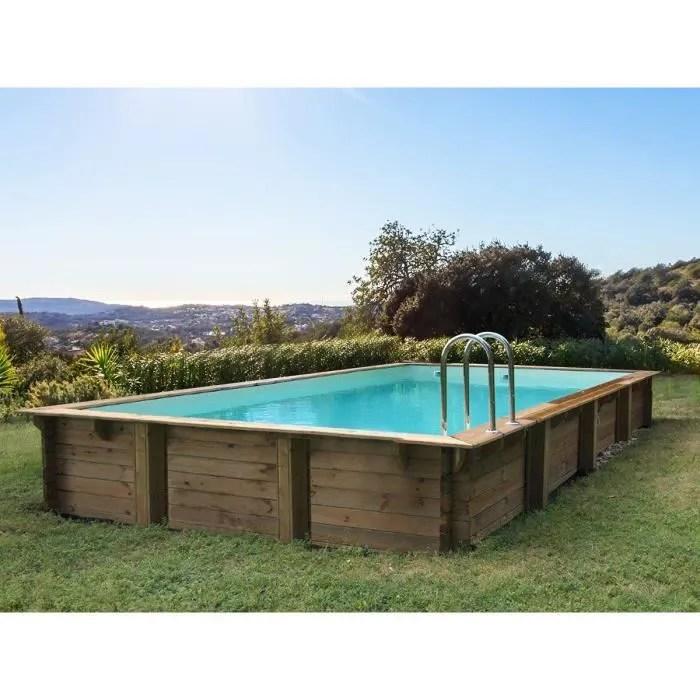 piscine bois en kit rectangle kolanta
