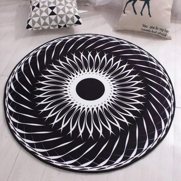 tapis rond lavable en machine la