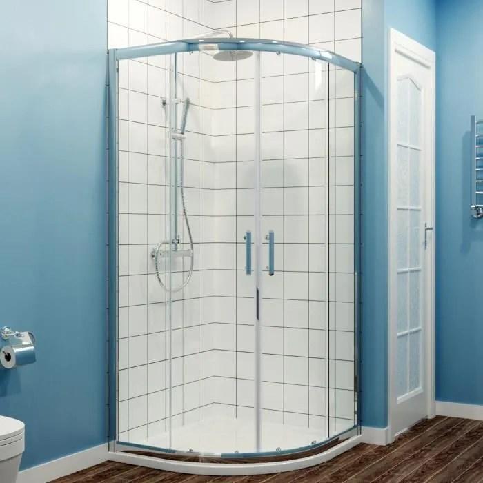 sirhona cabine de douche ronde 80x80 porte de douc