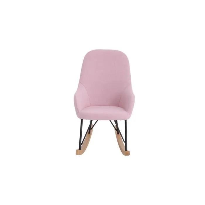 fauteuil a bascule pour enfant rose
