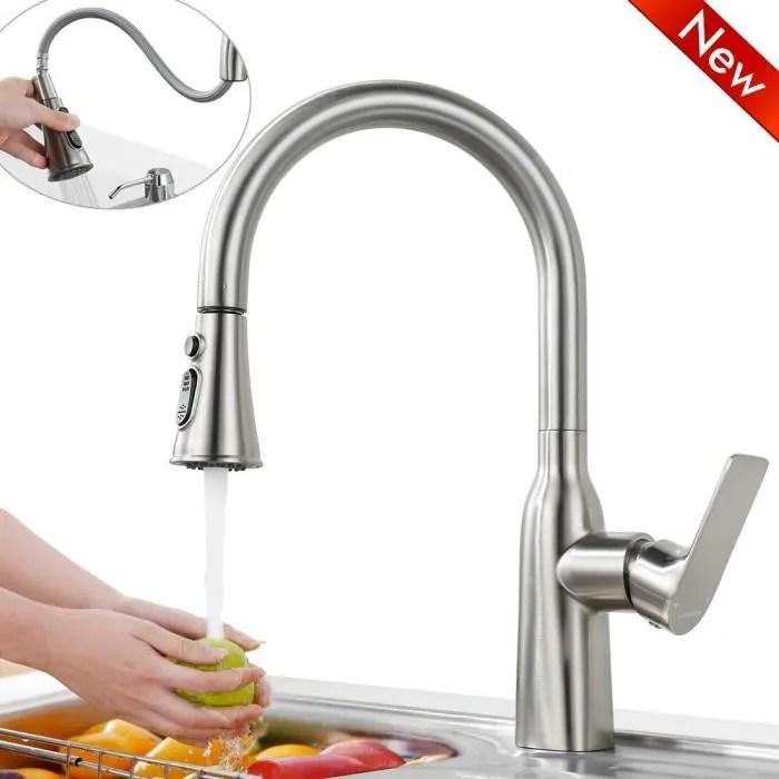 robinet de cuisine inox